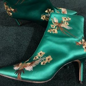Zara emerald booties